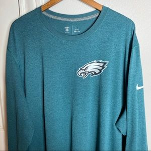 Nike Philadelphia Eagles Size 4XL Dri-Fit Green